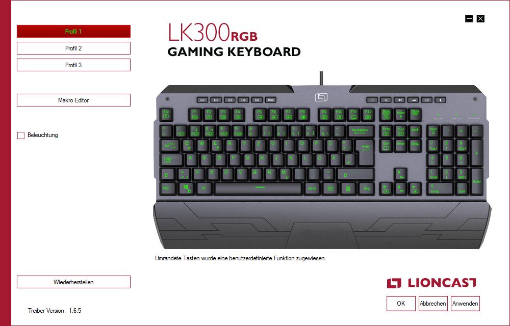 Software LK300 RGB