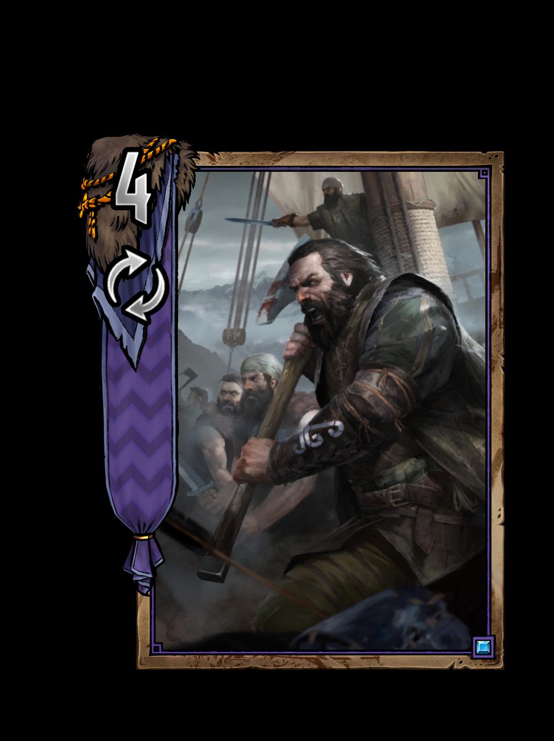Dimun-Piratenkapitän - Gwent Kartenbild
