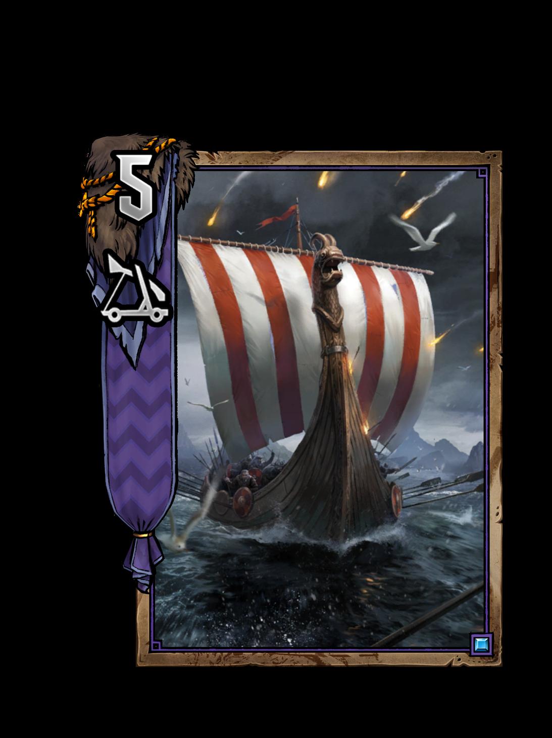 Kriegslangschiff - Gwent Kartenbild